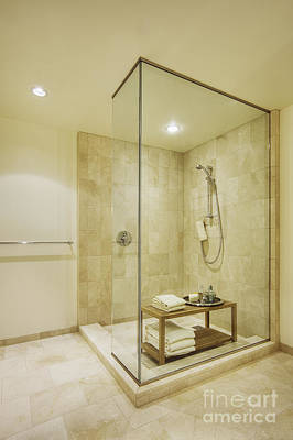 Upscale Photograph - Shower In Upscale Bathroom by Andersen Ross