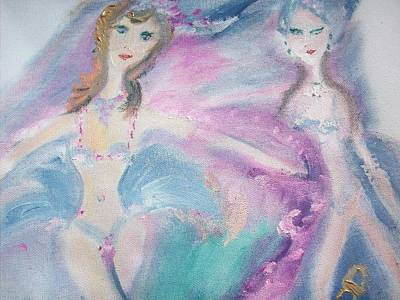 Showgirls Art Print by Judith Desrosiers