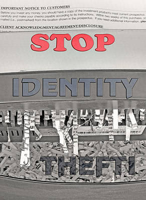 Shred Your Identity 2 Art Print by Steve Ohlsen