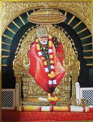 Shree Shirdi Sai Baba Art Print by Ashok  Sharma