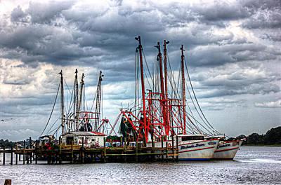 Photograph - Shrimp Boat Dock by Barry Jones