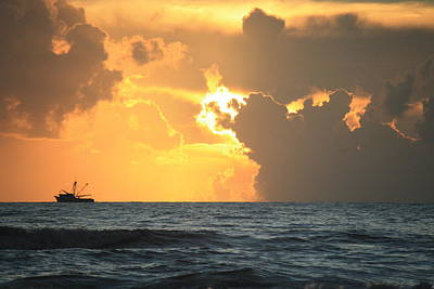 Shrimp Boat Sunrise Art Print
