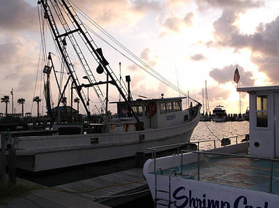 Photograph - Shrimp Boats At Sunrise by Stacey Robinson