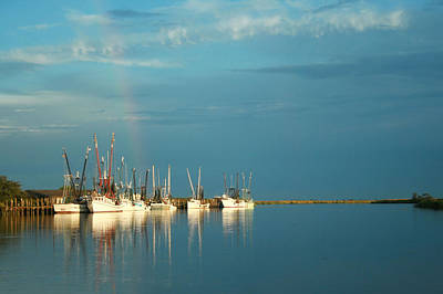 Shrimp Boats In Darien 2 Art Print