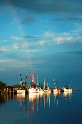 Shrimp Boats In Darien Art Print