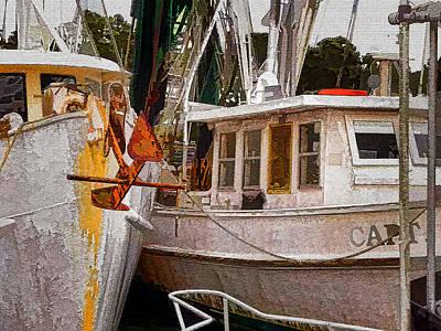 Shrimp Boats Art Print by Larry Bishop