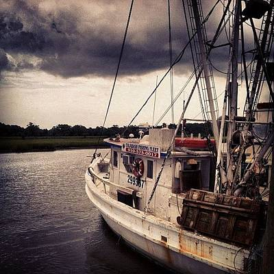 Marsh Photograph - #shrimp #vacation #lowcountry #marsh by Megan Rowley