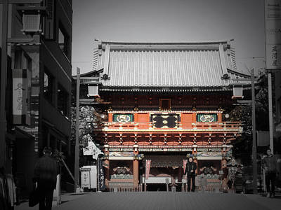 Downtown Photograph - Shrine In Tokyo by Naxart Studio