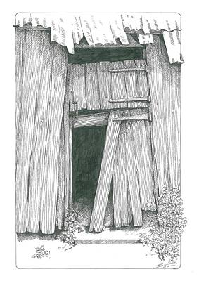 Drawing - Shropshire Hen House by Sue Pownall