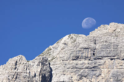 Photograph - Shy Moon by Raffaella Lunelli