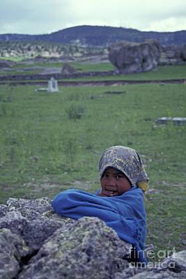 Photograph - Shy Tarahumara Girl Copper Canyon Mexcio by John  Mitchell