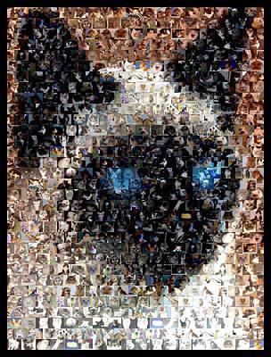 Siamese Cat Mosaic Art Print by Paul Van Scott