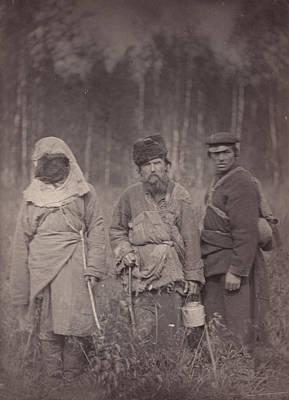 Siberia, Three Escaped Convicts Art Print by Everett