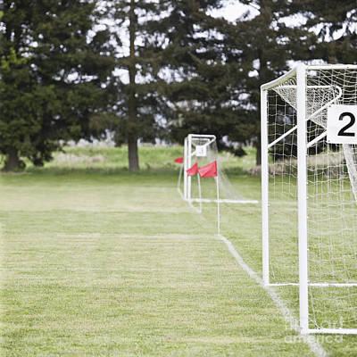 Side By Side Soccer Goal Nets Art Print by Jetta Productions, Inc