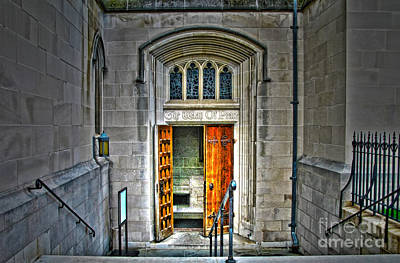 Side Entrance Photograph - Side Entrance At National Cathedral by Jack Schultz