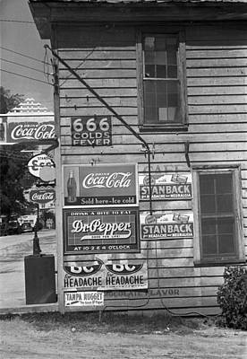 666 Photograph - Side Of A Store, Showing Advertising by Everett