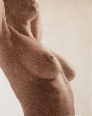 Nude Woman Torso Photograph - Side View Of The Naked Torso Of A Woman by Cristina Pedrazzini