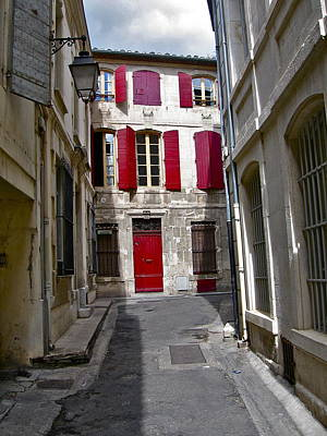 Sidestreet In Arles Art Print by David Ritsema