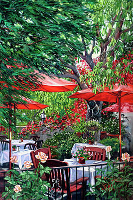Painting - Sidewalk Cafe by Lisa Reinhardt