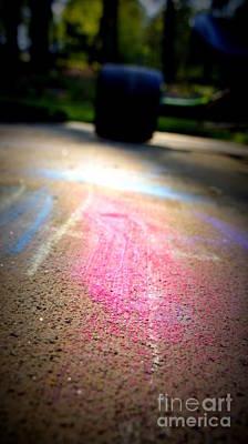 Photograph - Sidewalk Chalk II by J Kinion