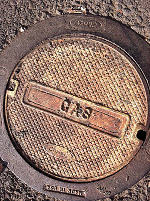 Sidewalk Gas Cover Art Print by Bill Owen