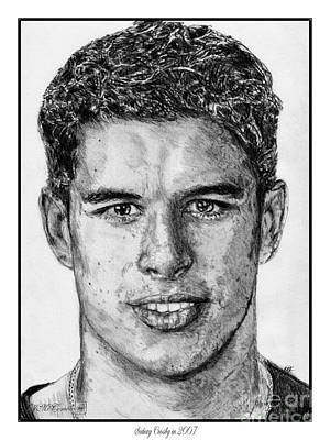 Championship Drawing - Sidney Crosby In 2007 by J McCombie