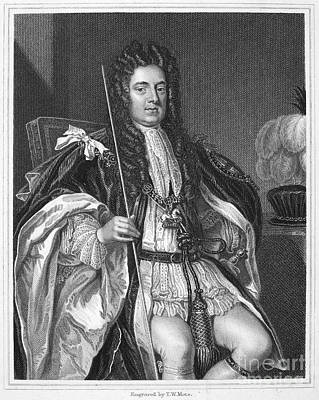 Kneller Photograph - Sidney Godolphin (1645-1712). First Earl Of Godolphin. English Statesman. Stipple Engraving After Sir Godfrey Kneller by Granger