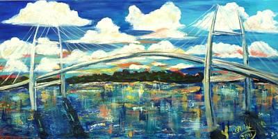 Painting - Sidney Lanier Bridge by Doralynn Lowe