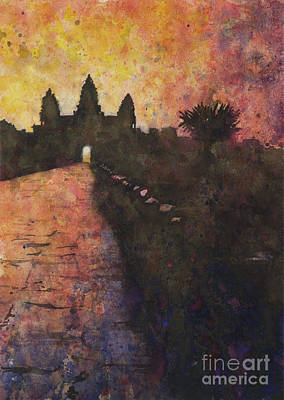 Painting - Siem Reap Sunrise 3 by Ryan Fox