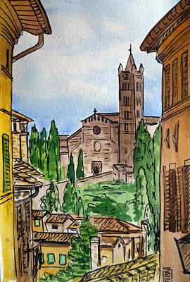 Siena Wall Art - Painting - Siena Italy by Irina Sztukowski