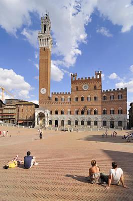 Photograph - Siena Piazza Del Campo With Palazzo Pubblico by Matthias Hauser