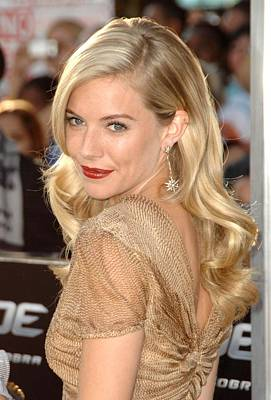Pierced Ears Photograph - Sienna Miller At Arrivals For Screening by Everett