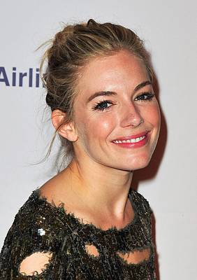 Hair Bun Photograph - Sienna Miller In Attendance For After by Everett