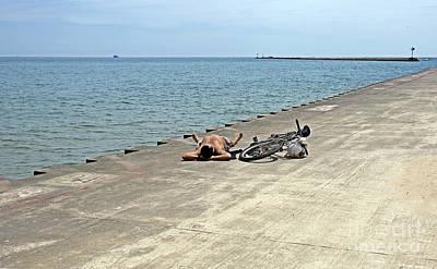 Beach Bicycle Photograph - Siesta by Madeline Ellis