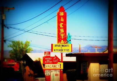 Siesta Motel On Route 66  Art Print by Susanne Van Hulst