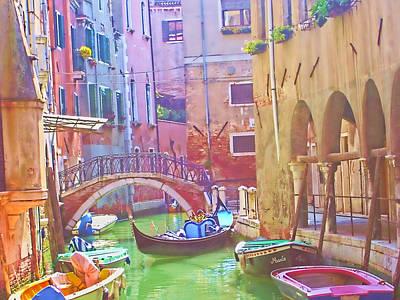 Siesta Time In Venice Art Print