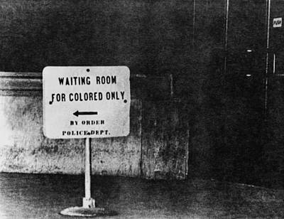 Sign Reading Waiting Room For Colored Art Print by Everett