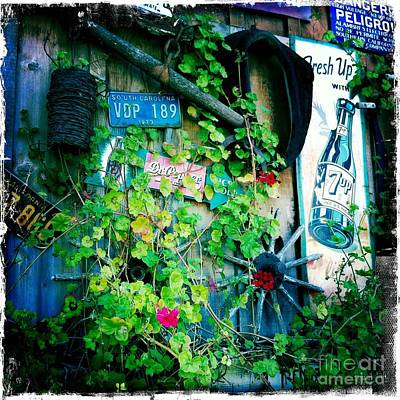 Art Print featuring the photograph Sign Wall by Nina Prommer
