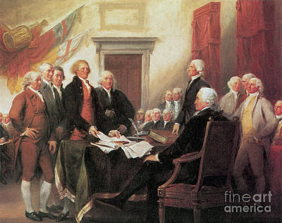4th July 1776 Photograph - Signing Of The Declaration by Photo Researchers