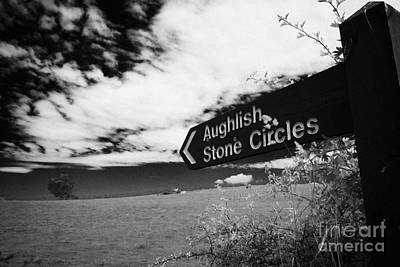 Megalith Photograph - signpost for Aughlish stone circles county derry londonderry northern ireland by Joe Fox