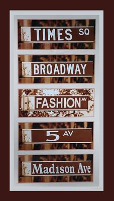 Signs Of New York Art Print by Rob Hans