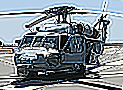 Photograph - Sikorsky Uh-60 Blackhawk Helicopter by Samuel Sheats