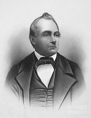 Lapel Photograph - Silas Wright (1795-1847) by Granger