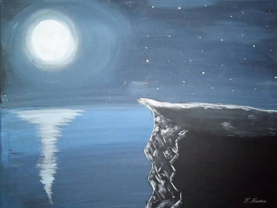Trudell Painting - Silence Of The Moon by Trudell Newton