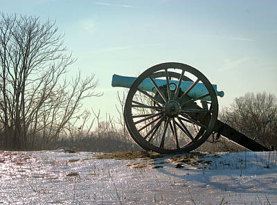 Photograph - Silent Cannon In Winter by Judi Quelland