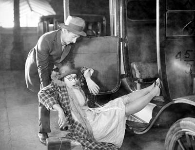 Photograph - Silent Film Still: Accidents by Granger