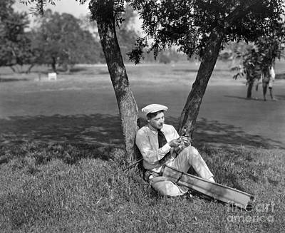 Photograph - Silent Film Still: Golf by Granger