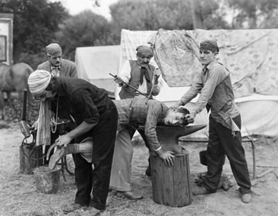 Photograph - Silent Film Still: Gypsies by Granger