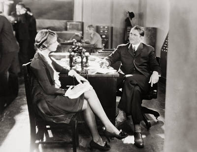 Photograph - Silent Film Still: Offices by Granger