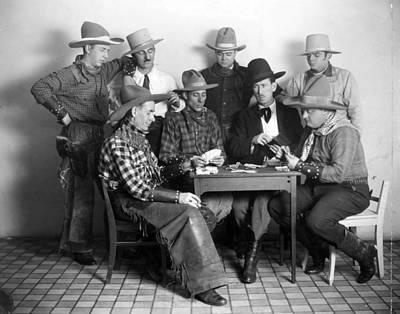Cowboy Hat Photograph - Silent Film Still: Poker by Granger